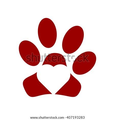 Red dog paw logo - photo#43