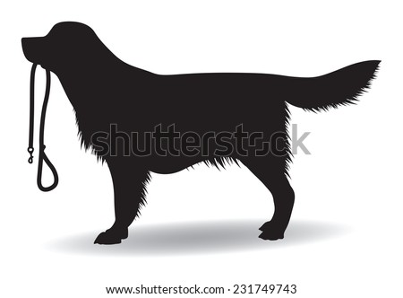 dog silhouette - stock vector
