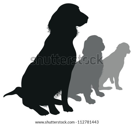 dogs in a line - stock vector