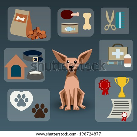 Dogs infographics,vector illustration - stock vector