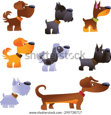 Dogs vector set, part 1 - stock vector
