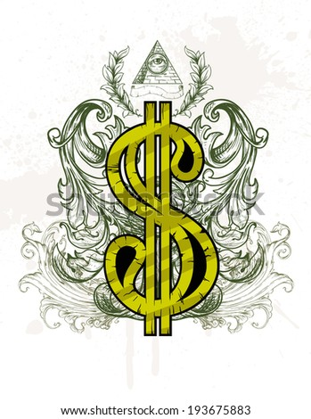 Dollar - stock vector