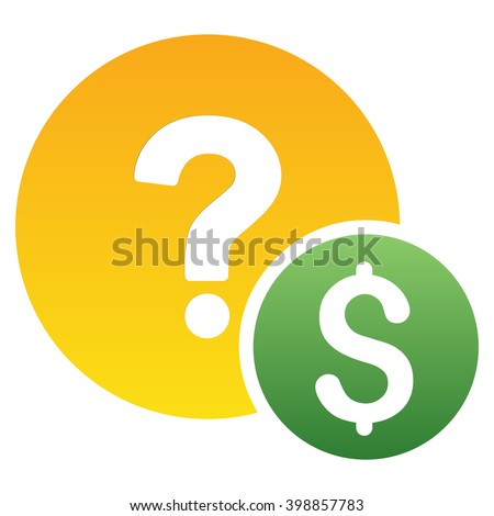 Dollar Balance Query vector toolbar icon for software design. Style is a gradient icon symbol on a white background. - stock vector