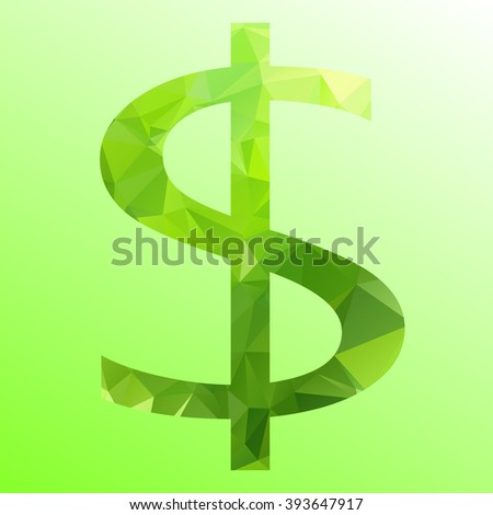 dollar graphic - stock vector