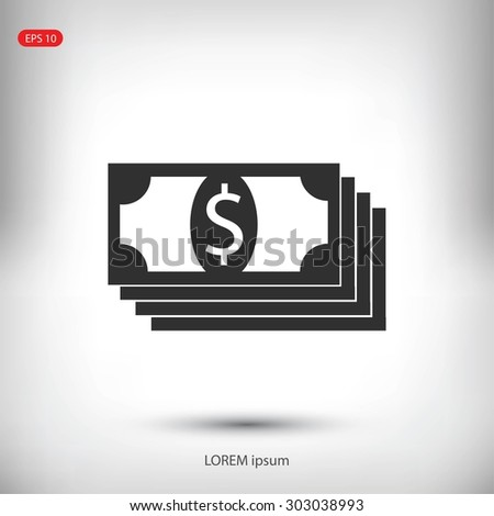 dollar icon - stock vector