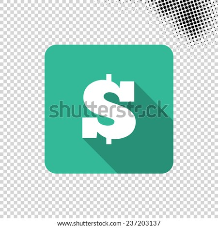 Dollar Money Icon  - stock vector
