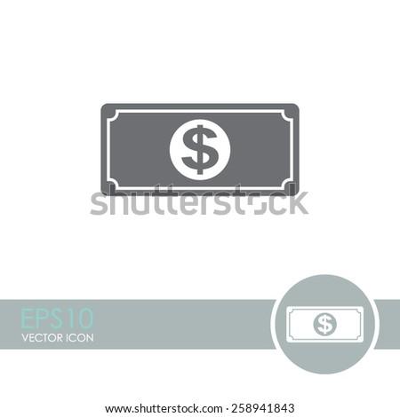 Dollar vector icon. Money symbol. - stock vector
