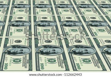 Dollars background. Illustration for Your creative design - stock vector