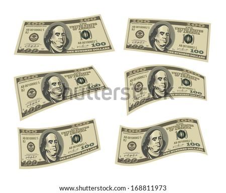 Dollars. Vector format - stock vector