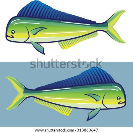 Dolphin Fish - stock vector