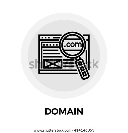 Domain icon vector. Flat icon isolated on the white background. Editable EPS file. Vector illustration. - stock vector