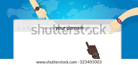 domain name web business internet concept url - stock vector