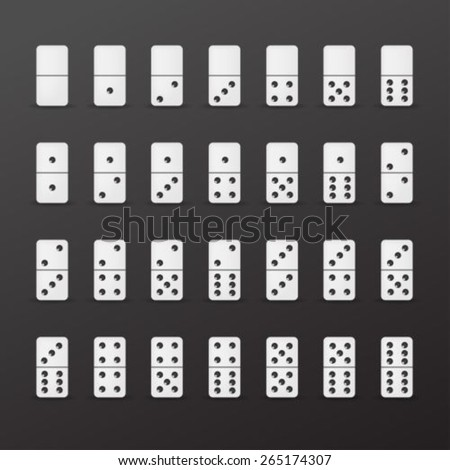 Domino collection - stock vector