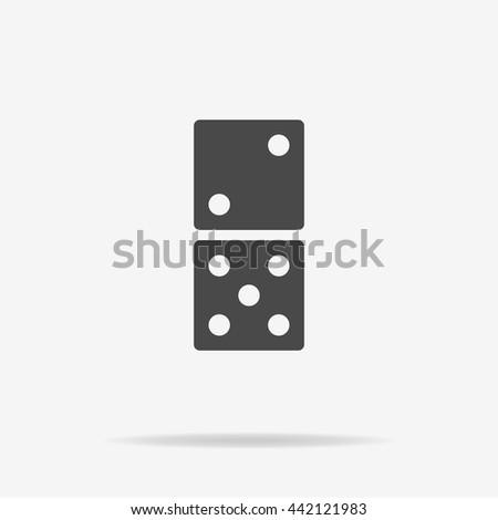 Domino icon. Vector concept illustration for design. - stock vector