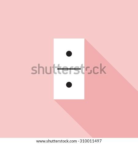 Domino icon vector illustration - stock vector