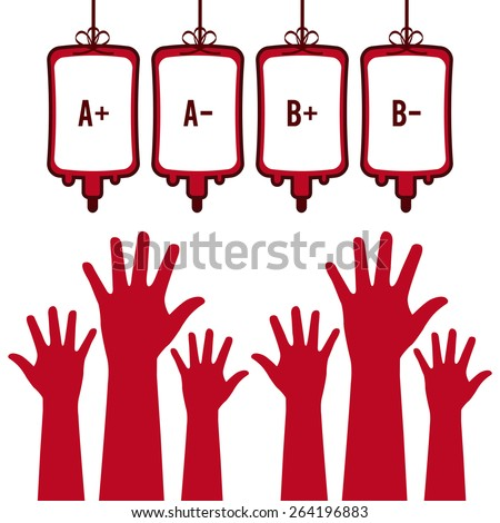 donate blood design, vector illustration eps10 graphic  - stock vector