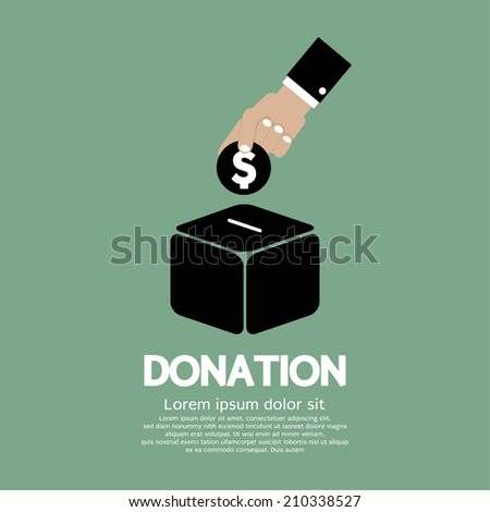 Donate Money To Charity Concept Vector Illustration - stock vector