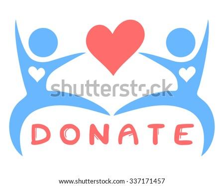 Donate symbol - stock vector
