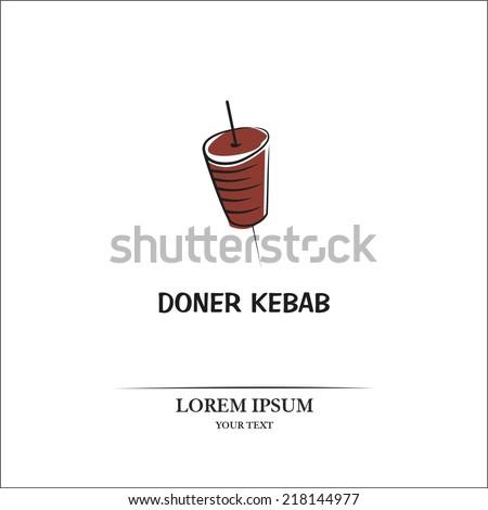 Doner kebab - stock vector