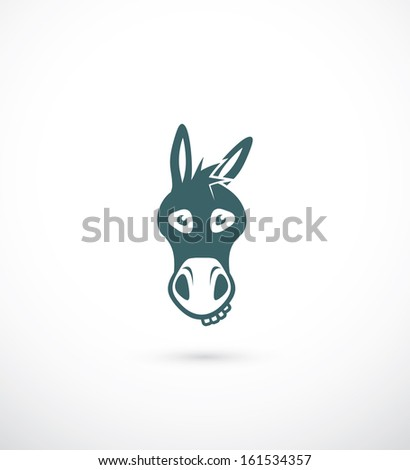 Donkey head - vector illustration - stock vector