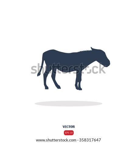 Donkey icon. Donkey icon vector. Donkey icon simple. Donkey icon app. Donkey icon web. Donkey icon logo. Donkey icon sign. Donkey icon UI. Donkey icon flat. Donkey icon eps. Donkey icon art. Donkey - stock vector