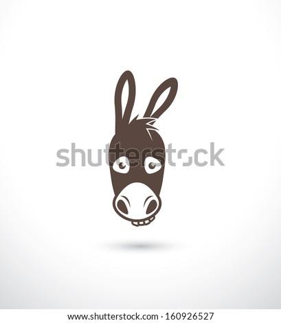 Donkey - vector illustration - stock vector