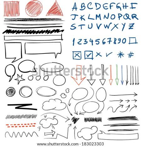 Doodle - stock vector