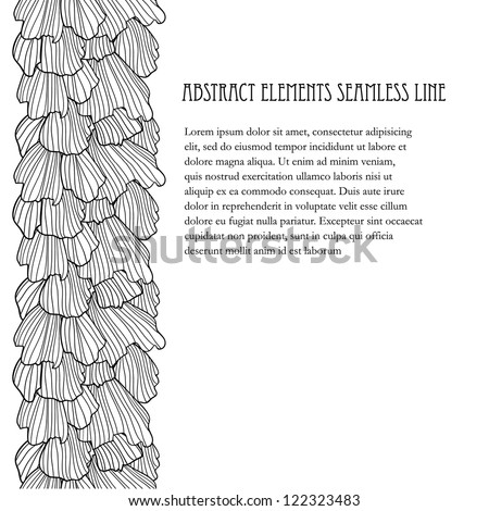 Doodle abstract frills seamless line (background). - stock vector