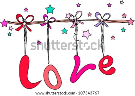 Stock Images similar to ID 8069410 - valentine alphabet on the ...