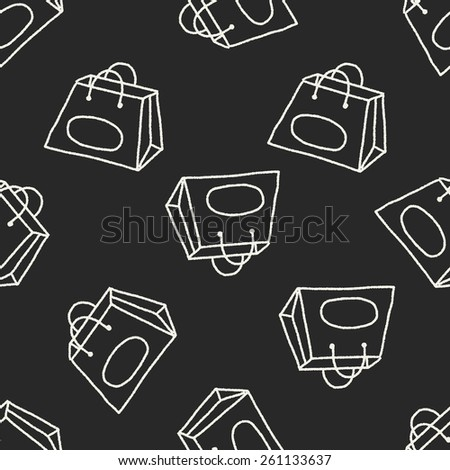 Doodle Bag seamless pattern background - stock vector
