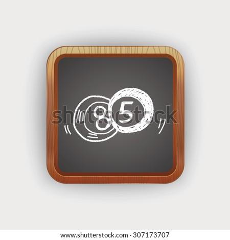Doodle Billiards - stock vector