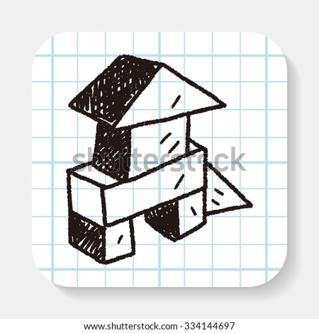 Doodle Building Blocks - stock vector