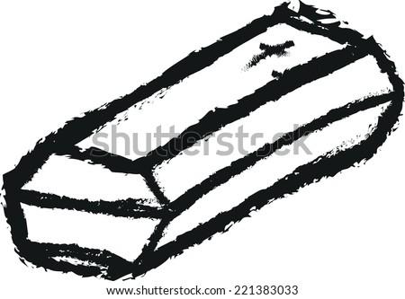 doodle coffin vector - stock vector