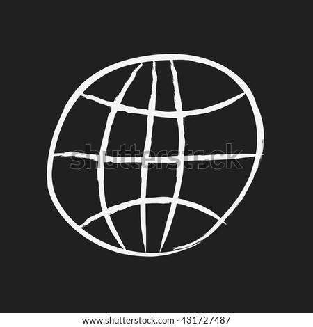 doodle drawing earth - stock vector