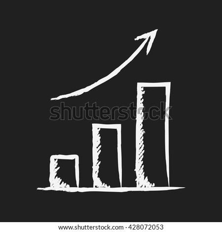 doodle drawing graph - stock vector