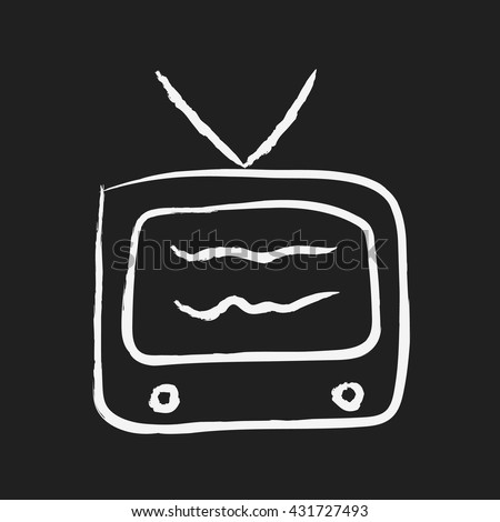doodle drawing TV. - stock vector