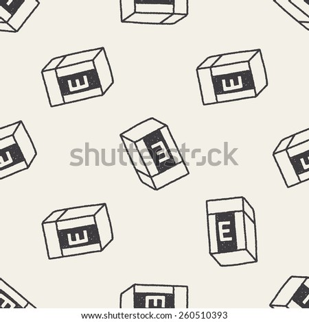doodle eraser seamless pattern background - stock vector