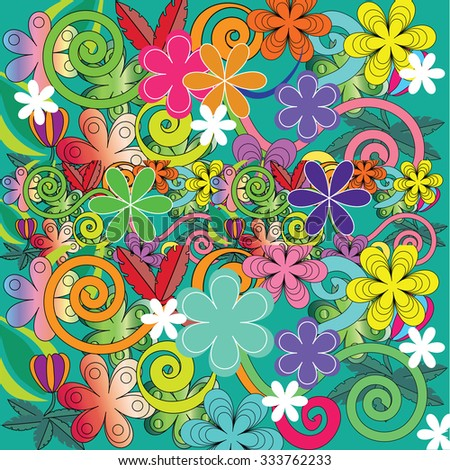 doodle flower pattern.doodle flower.flower pattern.floral pattern. Vector illustration.