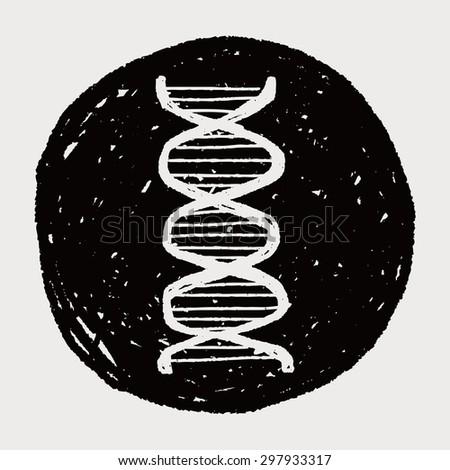 Doodle Gene - stock vector