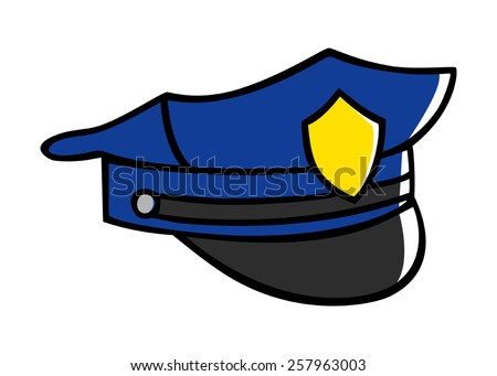 how to draw a police hat