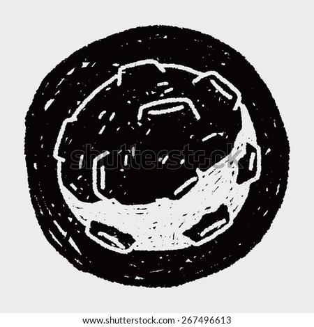 Doodle Meteor - stock vector