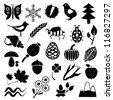 doodle nature pictures - stock vector