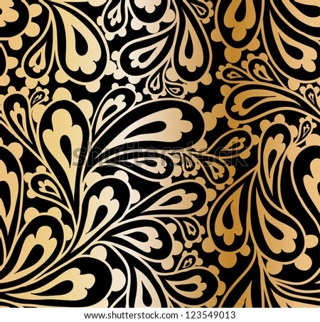 Doodle paisley seamless pattern. - stock vector