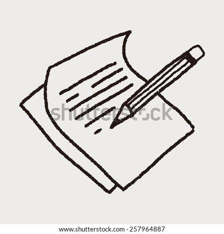 Doodle Paper - stock vector