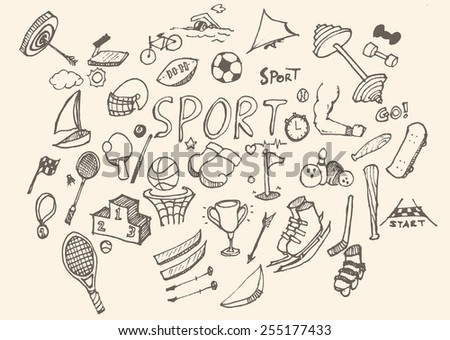 Doodle sport. Vector illustration. - stock vector
