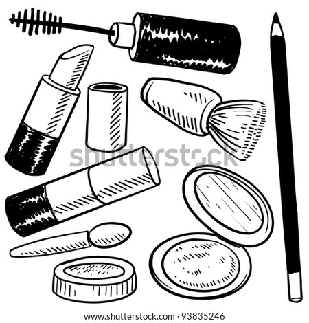 Doodle Style Makeup Items