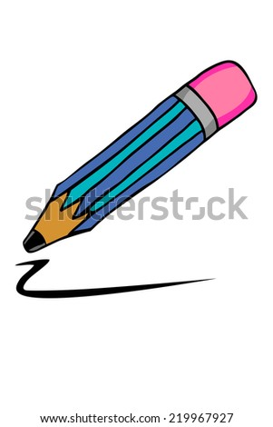 doodle style, pencil - stock vector