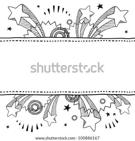 Doodle style pop explosion border or label illustration in vector format - stock vector