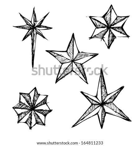Doodle style star illustration. Sketch - stock vector