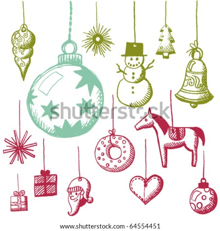doodle tags - stock vector